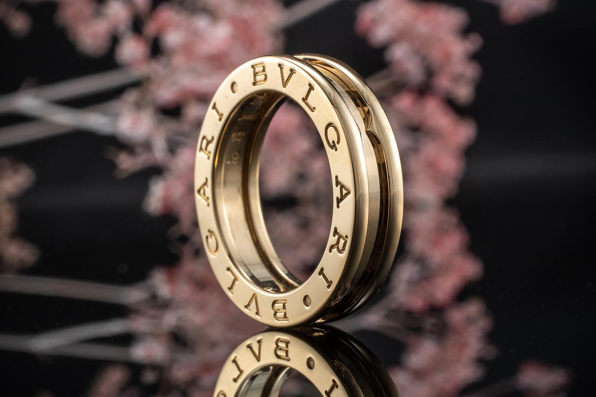 Damenring Zirkonia weiß 750er Gold 18 Karat vergoldet gelbgold Damen R2697