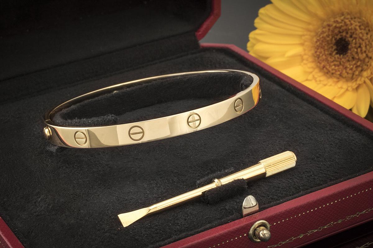 Cartier ArmreifArmband aus Weißgold in Weiß