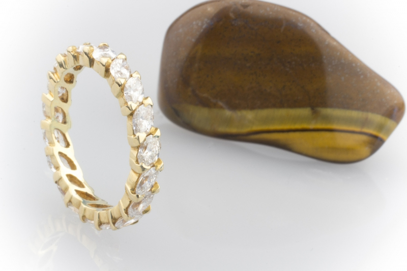 memoire ring 2 38 ct 19 navette geschliffene diamanten 750 gold 18 karat. Black Bedroom Furniture Sets. Home Design Ideas