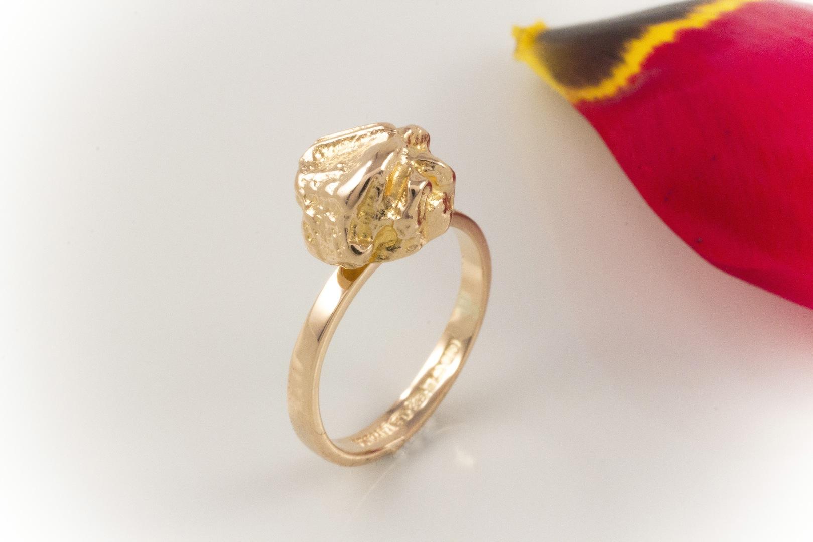 schmuckgebiet shop besonders sch ner lapponia ring in 585 gold 14 karat gelbgold echten. Black Bedroom Furniture Sets. Home Design Ideas